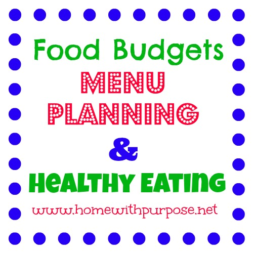 Food Budgets, Menu Planning, & Healthy Eating