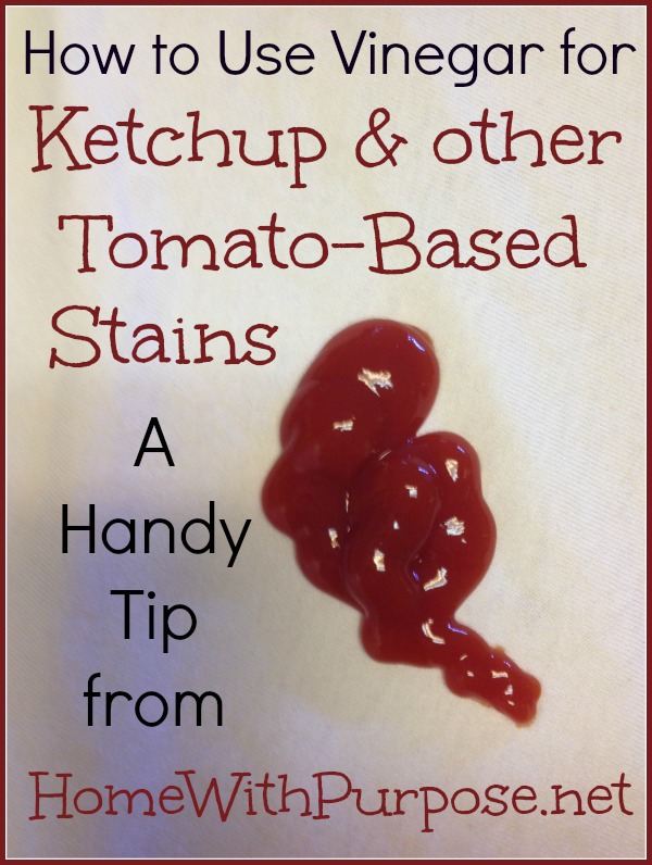 How to Use Vinegar for Ketchup Stains