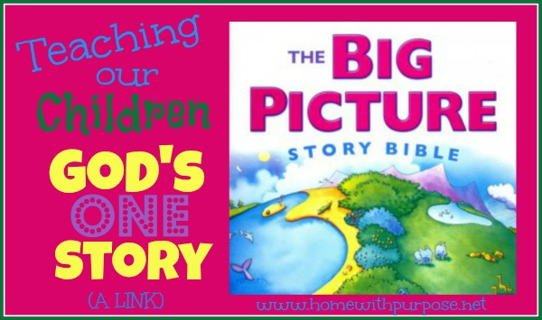 Teaching Children God's One Story (A Link)