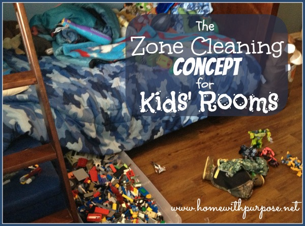 The Zone Cleaning Concept for Kids' Rooms from www.homewithpurpose.net