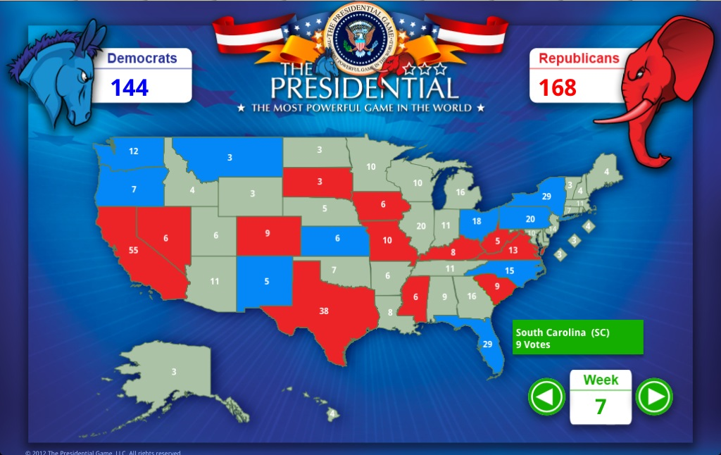 The Presidential Game WebMap