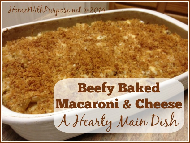 Beefy Baked Mac & Cheese