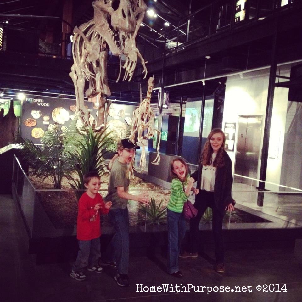 A fun birthday trip to the museum of natural science!