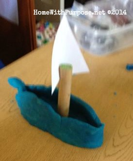 A playdough Viking ship!