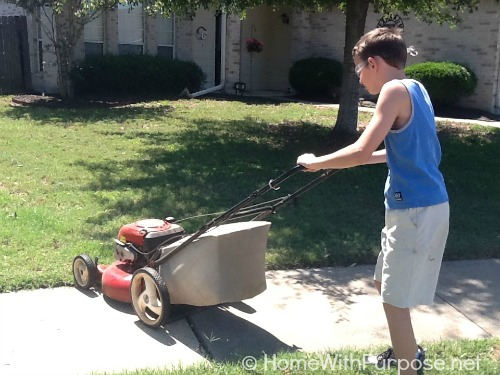 Mowing Lawns
