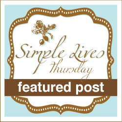 Simple Lives Thursday is a blog hop dedicated to simple living: gardening, cooking from scratch, real food, natural cleaners, sewing, recycling, & a mindset of simplicity - Home With Purpose