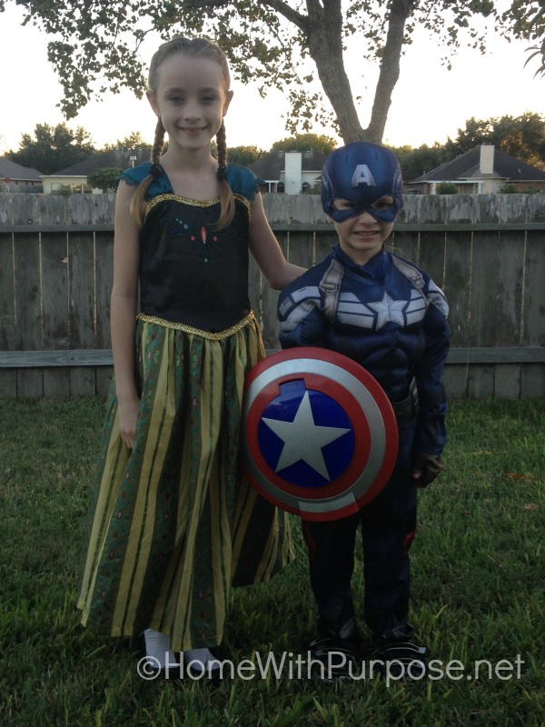 Anna and Captain America.