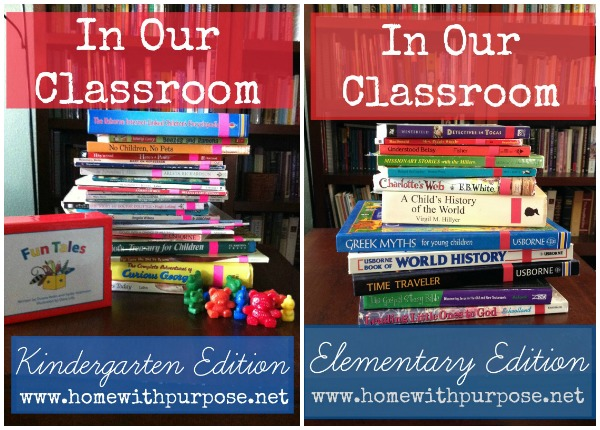 In Our Classroom: Weekly updates on what days in our kindergarten, elementary, junior high, and high school homeschool classroom look like.